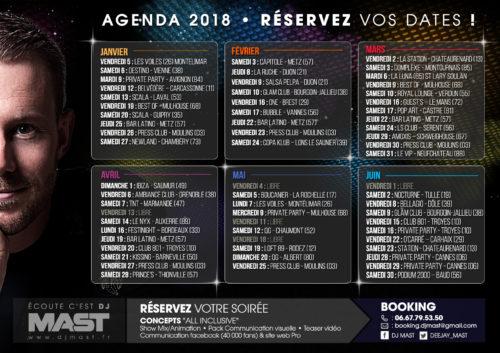 AGENDA 2018 – Réservez vos dates
